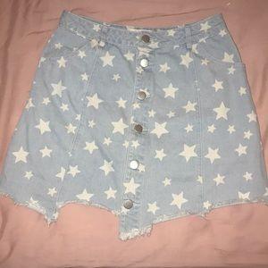 Stars Denim Skirt